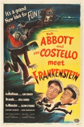 Original Vintage Movie poster Abbott Costello Meet Frankenstein