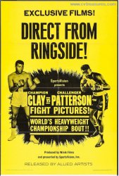 Cassius Clay (Muhammad Ali) and Floyd Patterson Vintage Boxing P