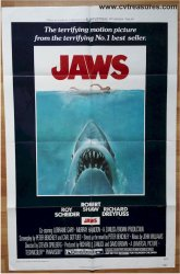 Jaws Original Vintage Movie Poster one sheet 1975 Ex+