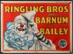 BARNUM & BAILEY Circus Poster 1945 Bill Bailey art of clown