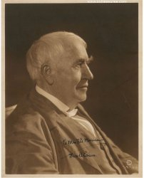 Thomas Edison Vintage Autographed Signed Photo