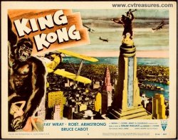 King Kong classic movie poster Vintage Lobby Card Empire Planes