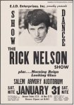 Ricky Nelson RARE Original Vintage Concert Poster