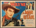 MAN FROM UTAH Vintage Western Movie Poster Half Sheet John Wayne