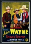 Texas Terror, John Wayne vintage movie poster one sheet, 1939