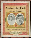 1928 WORLD SERIES BASEBALL PROGRAM Yankees Babe Ruth Lou Gehrig