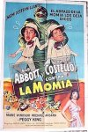 Abbott & Costello Meet the Mummy -- one sheet - 1953