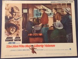 Man Who Shot Liberty Valance Lobby Card John Wayne Stewart