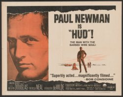 Hud, Paul Newman, 1963- half sheet movie poster