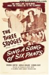 Three 3 Stooges Sing Song of Six Pants Vintage Movie Poster 1947