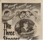 Fright Night Orignal Vintage Movie Poster Three 3 Stooges 1947