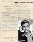 Frank Sinatra Signed Concert Contract Historical 1953