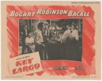 Key Largo Vintage Lobby Card Movie Poster Bogart Bacall Robinson