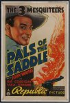 PALS OF THE SADDLE Vintage Western Movie Poster John Wayne