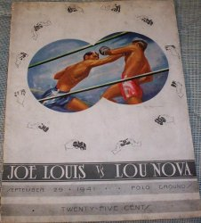 Joe Louis vs Lou Nova - Vintage Boxing Program 1941