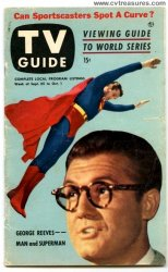 TV Guide George Reeves Superman cover, 1953 RARE Issue