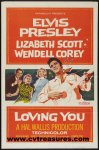 Loving You Elvis Presley Vintage One Sheet movie poster 1957