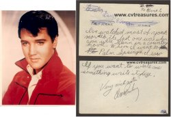Elvis Presley Autograph Vintage note from 11 Year Old Girl
