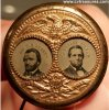 Ulysses Grant 1868 Political Campaign brass ferrotype pin token