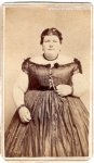 407 Pound Teenager Antique Photo Picture RARE 1860s