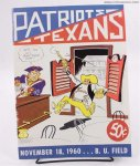 New England Patriots 1960 Vintage Football Game Program 1st Seas
