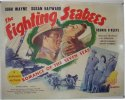 John Wayne Fighting Seabees half sheet movie poster 1944