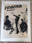 Frank Sinatra Leroy Neiman Signed Autographed concert poster '74