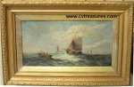 Edward Moran Seascape Painitng 19th Century Fine Art