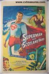 Superman in Scotland Yard Vintage Movie Poster George Reeves '54