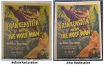 Frankenstein Meets the Wolfman Classic Movie Poster Window Card