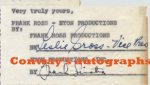 "Frank Sinatra Signed Autographed Contract, 1957 ""Kings Go Forth"""