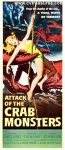 Attack of the Crab Monsters Original Vintage Movie Poster Insert