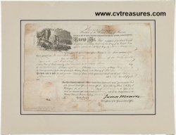 President James Monroe Signed Land Grant Document PSA