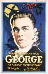 George Magic Poster Stone Lithograph 1920's One Sheet,