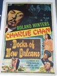 Charlie Chan Docks of New Orleans Roland Winters one sheet 1948