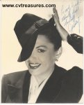 Judy Garland Autographed Signed Photo STUNNING!