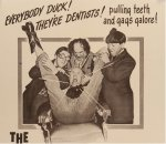 TOOTH WILL OUT Three Stooges Vintage Movie Poster one sheet 51