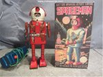SPACEMAN PORTHOLE ROBOT ASTRONAUT Japan Tin Toy Linemar