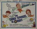 Three Stooges Movie Poster 1960's in Orbit half sheet