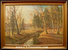 "Carl Wennemoes ""Autumn Landscape"" Oil Painting 1955"