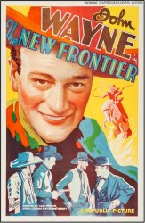 New Frontier Original Vintage Western Movie Poster John Wayne