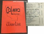 Frank Sinatra Autographed Signed CAL NEVA LODGE Casino Wine Menu