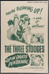 UP IN DAISY'S PENTHOUSE Vintage Movie Poster Three 3 Stooges