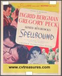 "Alfred Hitchcock movie poster one sheet ""Spellbound"""