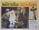 "Abbott & Costello Lost in Alaska, 1952 TWO Lobby Card (11x14"")"
