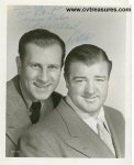 Abbott & Costello Signed Autographed vintage photo PSA
