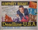 Deadline USA Vintage Movie Poster Half Sheet Humphrey Bogart