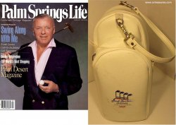 Frank Sinatra Celebrity Invitational Leather Shoe Handbag 1990