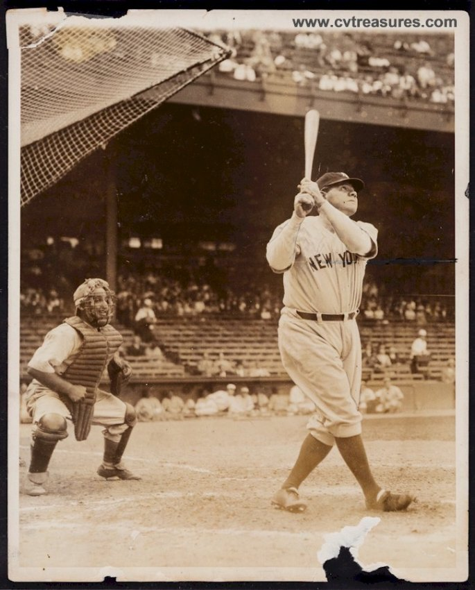 Babe Ruth Rare TYPE I Baseball Yankees Photo Picture - Click Image to Close