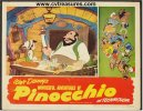 Disney's Pinocchio Vintage Lobby Card Movie Poster, 1945